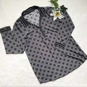 MUDPIE NWOT Women's Top Blouse Polka Dots Long